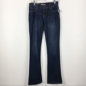 NWT Old Navy The Flirt Dark Wash Boot Cut Jeans 2